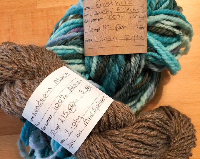 Featured listing image: Handspun Yarn Info Labels, Printable