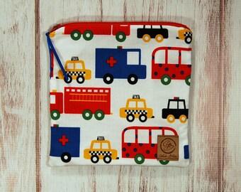Reusable Sandwich Bag - Sandwich Bag - Zipper Pouch - Zipper Bag - Emergency Vehicles