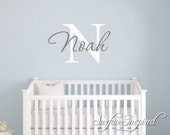 Nursery Wall Decals. Personalized names wall decal for boys and girls rooms. Personalized wall decal made in any colors and size you want