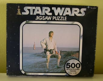 Vintage Star Wars 500 Piece Jigsaw Puzzle Factory Sealed 1977