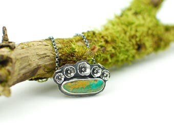 Spring Flowers - Royston Turquoise Necklace : sterling silver, rustic, boho, southwestern, feminine