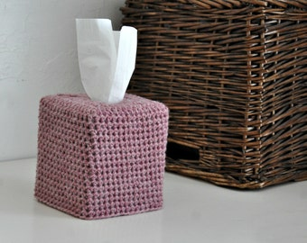 Modern Square Tissue Box Cover Rose Pink Nursery Decoration Home Decor Kleenex Box Cover