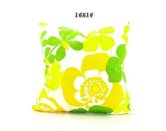 CLEARANCE SALE-Yellow Orange Green Pillow Cover, Lemon Lime Pillows, Large Colorful Pillows, Bright Yellow, Bright Orange Cushion Covers.