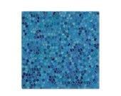 Blue napkin, cloth napkin, cotton napkin, printed dinner napkin, reusable napkin, fabric napkin, table linens, table setting