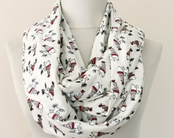 Snoopy scarf Peanuts scarf Charlie Brown comic character scarf cartoon lovers gift