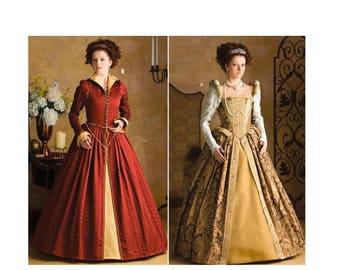 Renaissance Costume Pattern, Elizabethan Costume, Theater Gown, Andrea Schewe, Historical Costume, Elizabeth Gown, Simplicity 3782 Pattern
