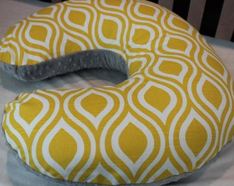 Sale! Yellow and White Tear Drop Nursing Pillow Cover
