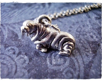 Silver Walrus Necklace - Silver Pewter Walrus Charm on a Delicate Silver Plated Cable Chain or Charm Only