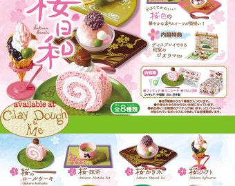 Re-ment Sakura Sweets/Re-ment Cherry Blossoms Sweets with DISPLAY PAPER