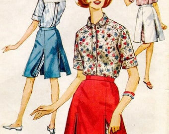 Simplicity 5284 - Size 13 Bust 33 - Skirted Shorts Pattern - Womens Shirt Pattern - Vintage Sewing Pattern