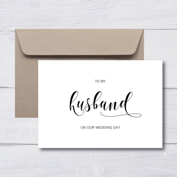HUSBAND WIFE Thank You Wedding Cards |  Custom Cards, Monochrome, Minimalist, Personalised Cards, Calligraphy, Modern