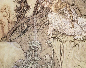 Magic Cup, Arthur Rackham, Vinatge Art Print