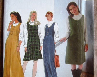 Misses Jumper in Two Lengths Sizes 6 8 10 Simplicity Pattern 8225 UNCUT