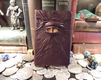 Mythical Beast Book-Lined (Burgundy leather with Yellow eye)