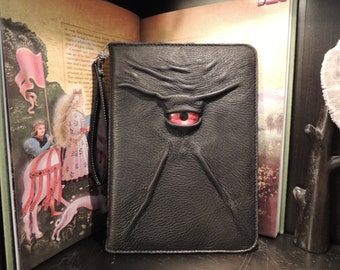 """IPad Pro 9.7"""" Cover(Black leather with Red Eye)"""