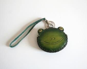SALE Frog Face Wristlet