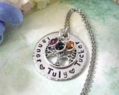 HUGE SALE NOW Grandma Gift, Gift for Grandma, Grandkids Names, Family Tree Jewelry, Gift for Mom, Mom Jewelry, Mom Necklace