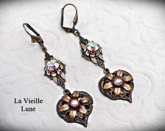 Filigree Victorian Heart Earrings, Victorian Jewelry