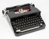 Smith Corona Typewriter  Manual Black Typewriter with Case Fully Serviced Working Typewriter