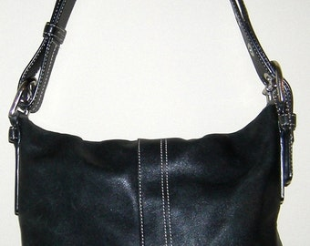 Genuine Coach Black Leather Purse with Black Interior