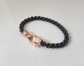 black metal, titanium metal, mens gift, free shipping, gold jewelry, men's bracelet, TITANIUM BRACELET, gold clasps mens jewelry