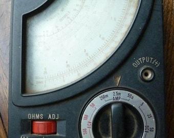 Vintage Volt Meter - Monarch Mt-200 - Old Volt Meter - Monarch volt meter, Vintage Monarch MT-200 Volt Ohm Meter,