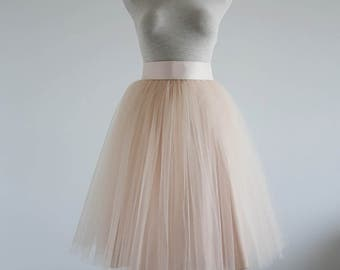 Powder puff tulle skirt. Tea length tulle skirt. Women tulle skirt.Tulle skirt.Tutu skirt for woman. Bridal tulle skirt. Wedding tulle skirt