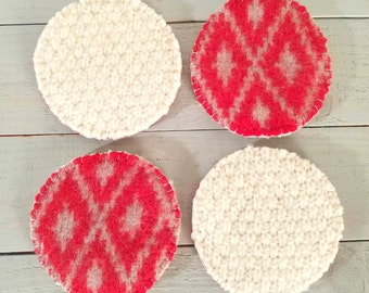 Felted Reversible Coasters