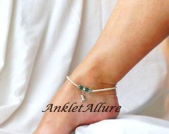 Anklet Barefoot Anklet Beach Ankle Bracelet Foot Anklet Beige Anklet Cruise Anklet Cruise Jewelry
