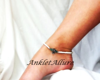Under the Coconut Tree Anklet Palm Tree Ankle Bracelet Beach Anklet Island Cruise Jewelry Body Jewelry