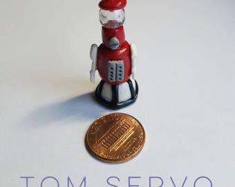 Handmade MST3K Tom Servo pendant / charm necklace polymer clay - Mystery Science Theater 3000