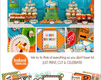 Transportation Birthday Party | Transportation Party Decorations | Car Plane Train Birthday | Instant Download | Amanda's Parties To Go