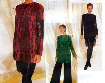 Vogue Attitudes 1492 Sewing Pattern by Badgley Mischka for Misses' Dress, Tunic, Skirt and Pants - Uncut - Size 12, 14, 16