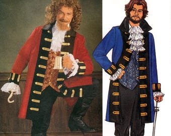 Butterick 3894 Sewing Pattern for Men's Captain Hook Pirate Costume - Uncut - Size XS, S, M