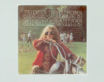Janis Joplin Greatest Hits Vintage Vinyl Record Album Great Blues, Ball & Chain, Me and Bobby McGee, Summertime, Down on Me 1973 Columbia LP