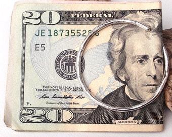 Sterling Silver Money Clip Ring 1.87 Inch Diameter 010417