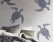 NEW!  Sea Turtle Stencil for Walls - Large STENCIL, Reusable - DIY Home Decor/Wall Art