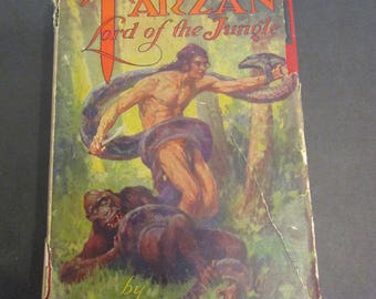 Tarzan Lord of the Jungle 1928 Second 2nd Printing Hardcover Antique Collectible Books