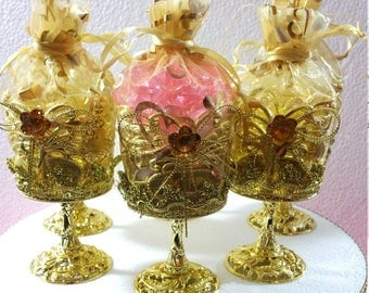 12 Royal Princess Baby Shower Favor Cups   Perfect Party Favors For Girls  PINK And GOLD