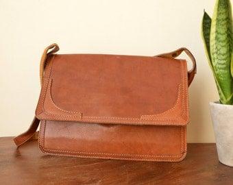 Leather Purse Vintage Brown Shoulder Bag
