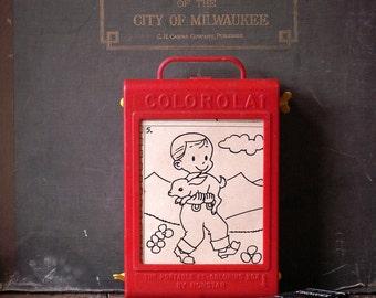 Vintage Colorola Portable Re-Coloring Book by Norstar - Retro Kids Toy