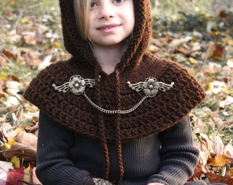 Fairy hood with capelet