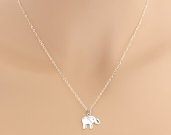 Elephant Necklace, Baby Elephant Necklace, Elephant Jewelry, For Her, Sterling Silver, Elephant Charm, Animal Necklace, BeadXS, Gift Idea