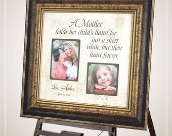 Wedding Photo Frame, Mother of the Bride Gift, Mother of the Groom Gift, Wedding Gift for mom, 16x16