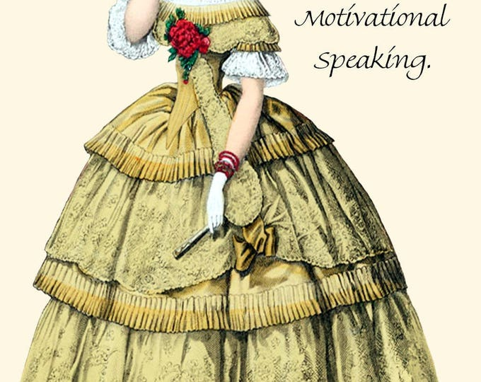 "He Calls It Nagging. I Call It Motivational Speaking. - Marie Antoinette Inspired 4"" x 6"" Postcards - Free Shipping in USA"
