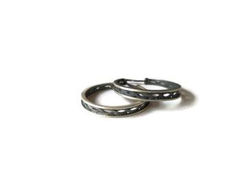 Silver hoop earrings. Sterling silver earrings. Boho hoop earrings. Trendy hoop earrings. Filigree earrings. Gift for her. Mothers day gift