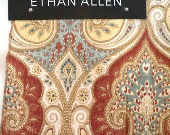 Retired -ETHAN ALLEN 43066 Anjali Spice  Linen Material Make Pillows DIY Cover a Chair
