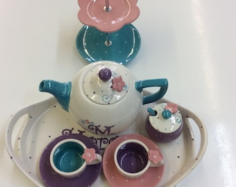Little Miss Sassy personalized child's tea set
