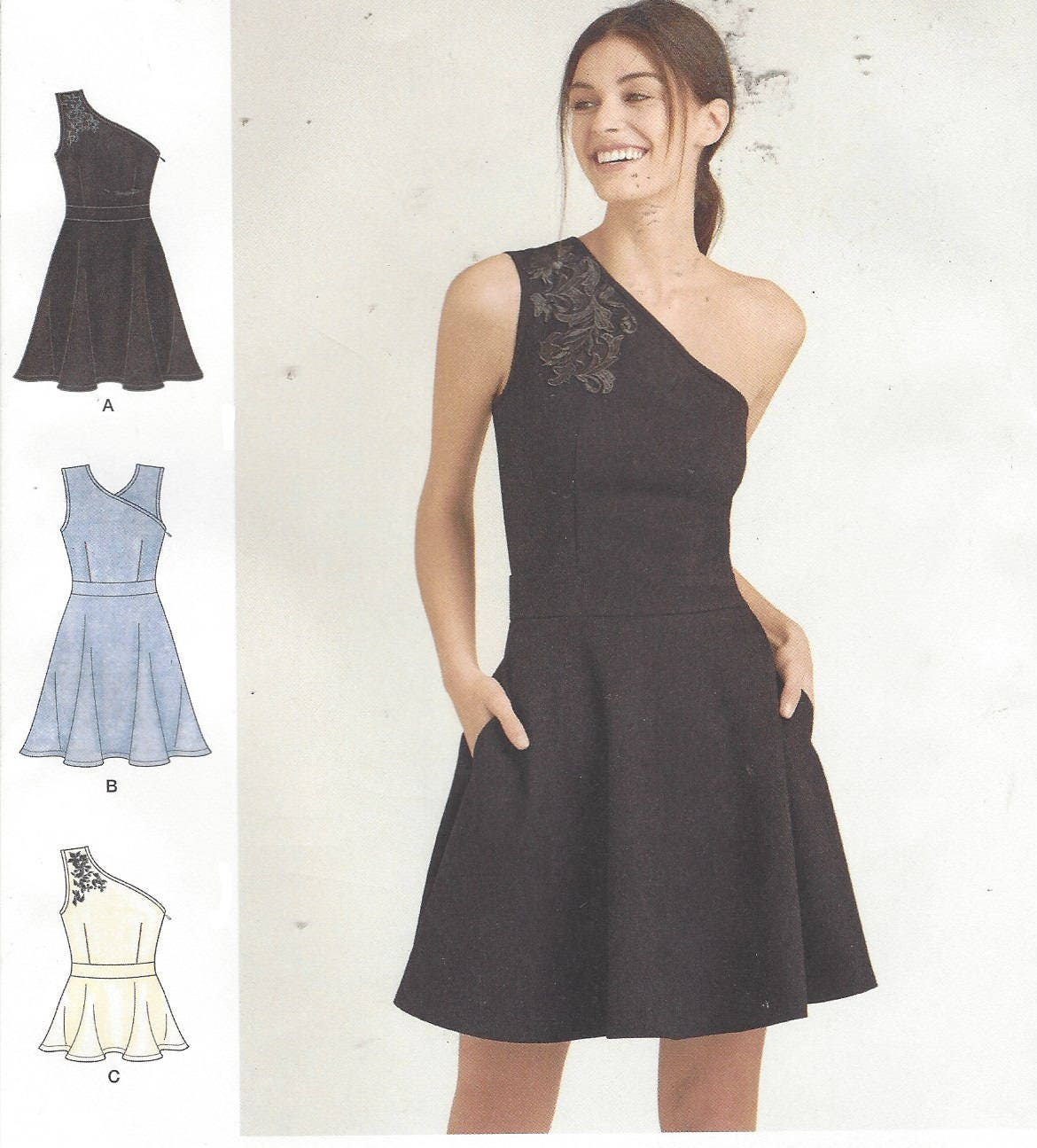 Cynthia Rowley Sewing Patterns: Cynthia Rowley Womens One Shoulder Knit Dress Or Top