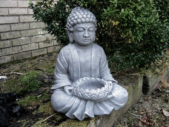 Buddha statue garden statues zen garden concrete buddha - Garten buddha frostsicher ...